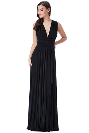 Wholesale-Multi-Way-Pleated-Maxi-Dress