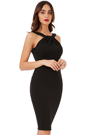 Wholesale-Pleated-Neckline-Midi-Dress_2