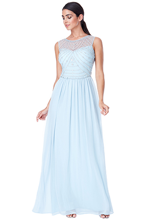 Wholesale-Embellished-Chiffon-Maxi-Dress