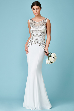 Wholesale-Embellished-Bodice-Chiffon-Maxi-Wedding-Dress