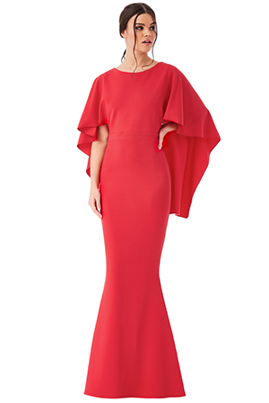 Wholesale-Open-Back-Maxi-Dress-with-Waterfall-Sleeves