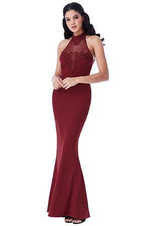 Wholesale-Halter-Neck-Maxi-Dress-with-Embellished-Mesh-Detail-v2
