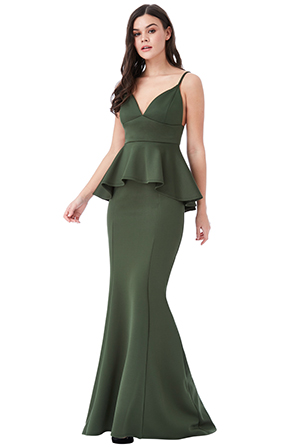 Wholesale-V-Neck-Peplum-Maxi-Dress-v2