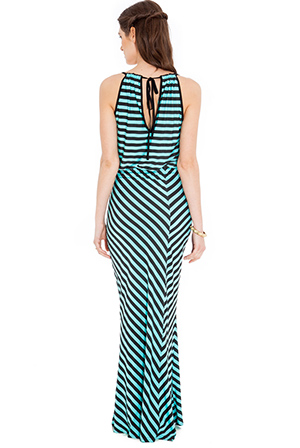 Wholesale Striped maxi dress