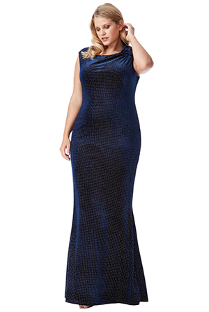 Wholesale-Plus-Size-Glitter-Velvet-Maxi-Dress-with-Bow-Detail-DR1294QZP