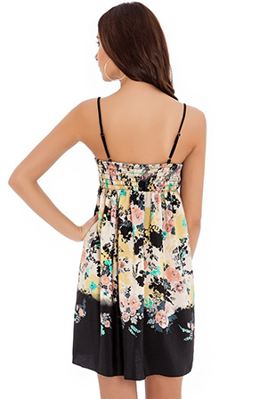Wholesale floral print sun dress