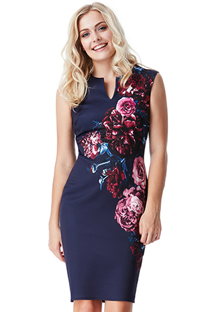 Wholesale-Sleeveless-Floral-Print-Midi-Dress