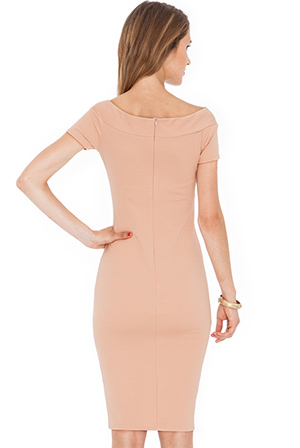 Wholesale Knot Detail fitted dress