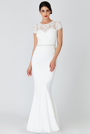 Wholesale-Lace-Bodice-Wedding-Maxi-Dress-with-Cap-Sleeves