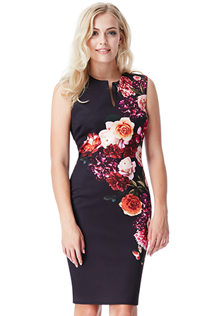 Wholesale Sleeveless Floral Print Midi Dress