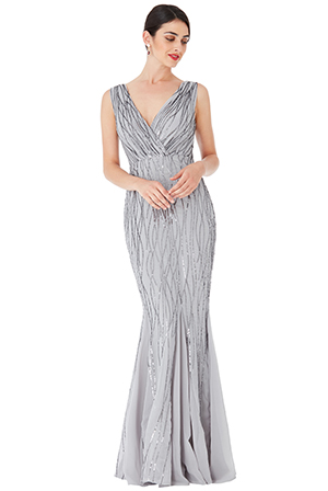 Wholesale-Sequined-Mermaid-Hem-Maxi-Dress