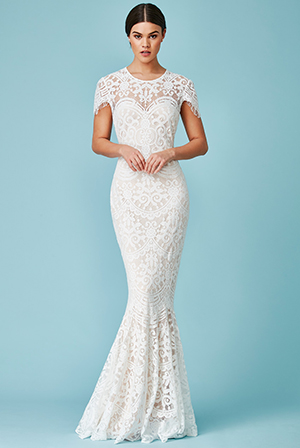 Wholesale-Cap-Sleeves-Lace-Maxi-Wedding-Dress