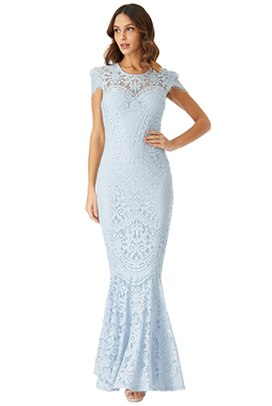 Wholesale-Cap-Sleeves-Lace-Maxi-Dress