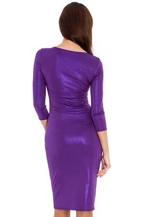 Wholesale Metallic knot detail jersey dress