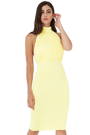 Wholesale-Halter-Neck-Bodycon-Midi-Dress