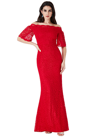 Wholesale-Bardot-Lace-Maxi-Dress-with-Bell-Sleeves