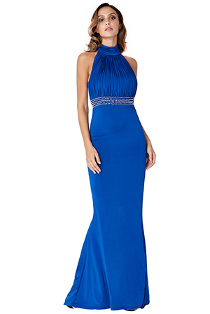 Wholesale-Halter-Neck-Maxi-Dress