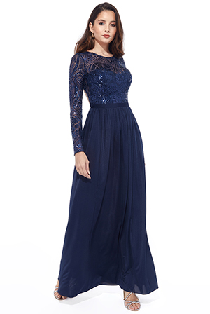 Wholesale-Open-Back-Long-Sleeve-Sequin-Maxi-Dress-DR1558PET