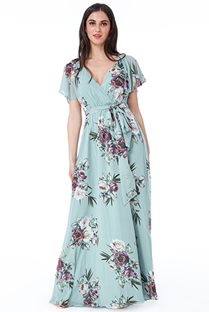 Wholesale-Silky-Chiffon-Deep-V-Neck-Butterfly-Sleeve-Maxi-DR1582BB