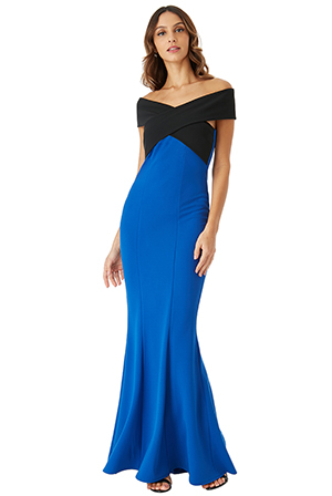 Wholesale-Cross-Over-Neckline-Maxi-Dress