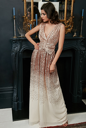 Wholesale-Sequin-and-Chiffon-Wrap-Maxi-Dress