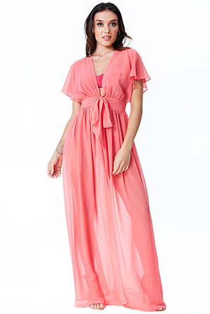 Wholesale-Sheer-Maxi-Kaftan-with-Front-Tie