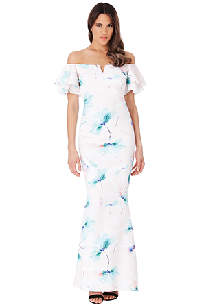 Wholesale Off The Shoulder Floral Maxi Dress