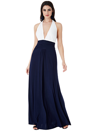 Wholesale-Plunge-Neckline-Maxi-Dress-with-Open-Back