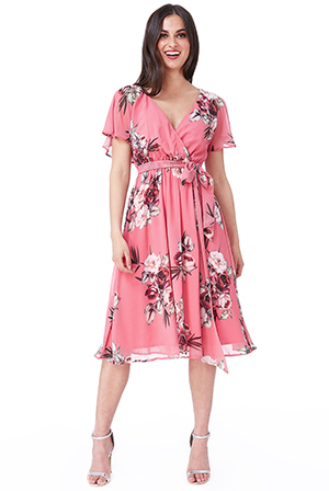 Wholesale-Floral-Print-Midi-Dress-with-Flutter-Sleeves-DR1641BB