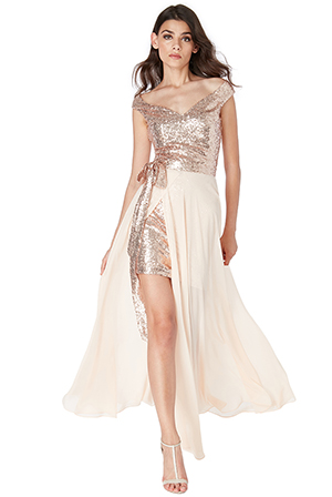 Wholesale-2-in-1-Sequin-and-Chiffon-Dress