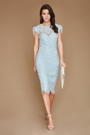 Wholesale-Cap-Sleeves-Lace-Midi-Dress_2