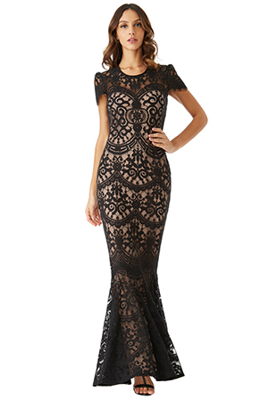 Wholesale-Cap-Sleeves-Lace-Maxi-Dress_2
