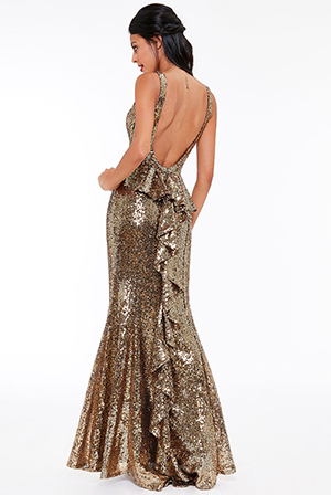 Wholesale-Halter-Maxi-Fishtail-Sequin-Dress