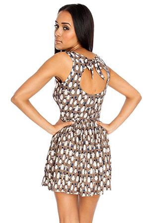 Wholesale-Conversational-Print-Dress