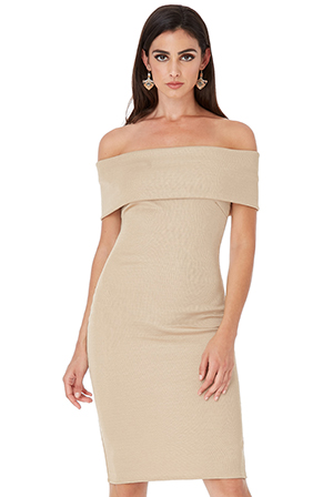 Wholesale-Off-The-Shoulder-Bandeau-Midi-Dress