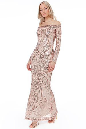 Wholesale-Off-The-Shoulder-Long-Sleeve-Sequin-Maxi-DR1829