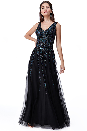 Wholesale-Sunray-Sequin-Maxi-Dress