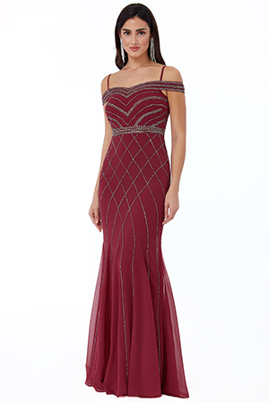 Wholesale-Off-The-Shoulder-Embroidered-Sequin-Maxi-Dress