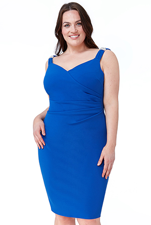 Wholesale-Plus-Size-Shoulder-Detailed-Midi-Dress-DR1846P