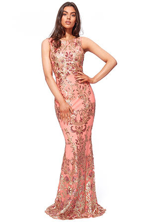 Wholesale-Sequin-Maxi-Dress-with-Scalloped-Hem-DR1856