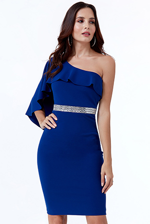 Wholesale-Off-The-Shoulder-Flair-Midi-Dress