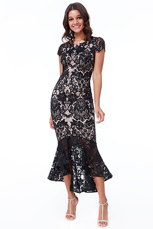 Wholesale-Lace-High-Low-Maxi-Dress-DR1905