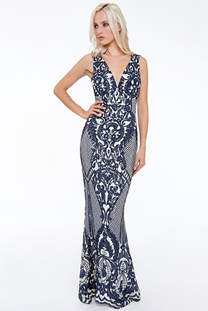 Wholesale-Sleeveless-Empire-Maxi-Dress