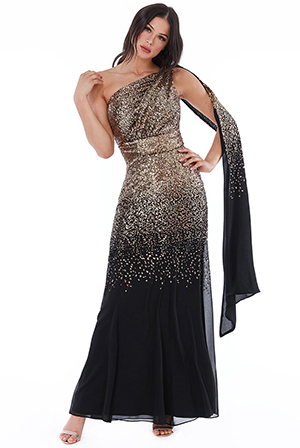 Wholesale-One-Shoulder-Sequin-and-Chiffon-Maxi-Dress-DR1965A