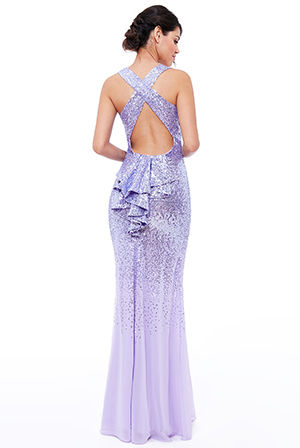 Wholesale-Criss-Cross-Back-Sequin-Maxi-Dress