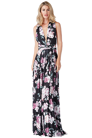 Wholesale-Floral-Multiway-Maxi-Dress