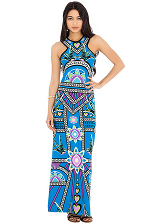 Printed-summer-maxi-dress-with-side-splits