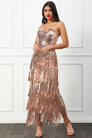 Wholesale-Boob-Tube-Sequin-Fringe-Maxi-Dress-DR2073