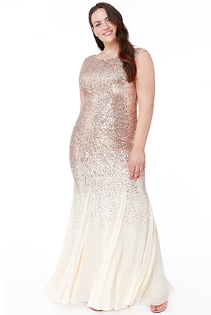 Wholesale-Plus-Size-Sequin-and-Chiffon-Sleeveless-Maxi-Dress-DR2092QZ