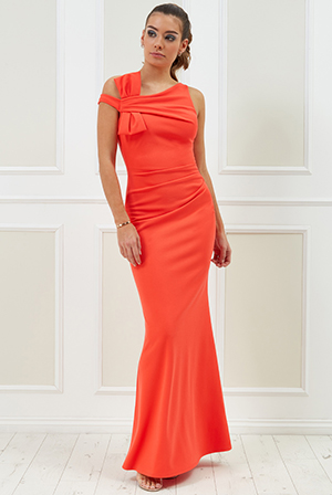 Wholesale-Vicky-Pattison-Side-Shoulder-Bow-Maxi-Dress-DR2211VP